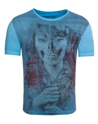 "Akito Tanaka Print-Shirt ""Geisha Skull"" mit Fotodruck vorne"