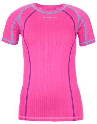 Alpine PRO T-Shirt Undera, Rundhals, Slim Fit rosa