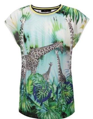 Aniston CASUAL T-Shirt im Safari-Look und gestreiften Bündchen - NEUE KOLLEKTION