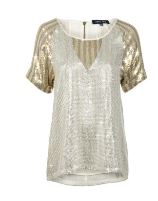 April, May Shirt SIGN sequin silver/gold