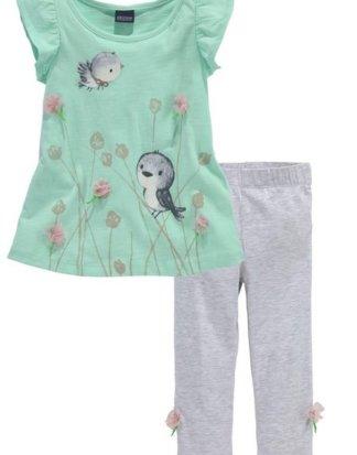 Arizona Shirt & Leggings (Set, 2-tlg) mit Druck und Applikation