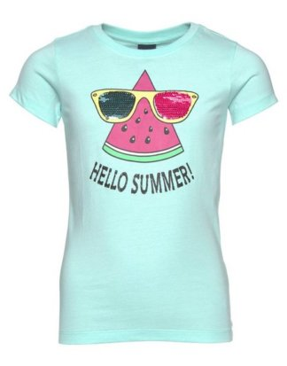 "Arizona T-Shirt ""HELLO SUMMER"" mit Wendepaillettenmotiv"