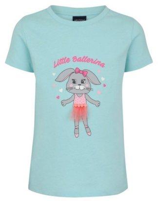 """Arizona T-Shirt """"Little Ballerina"""" mit Häschen-Druck und Tülldetail"""