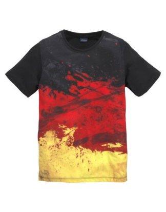 """Arizona T-Shirt """"schwarz/rot/gold/ Deutschland"""" mit Druck"""