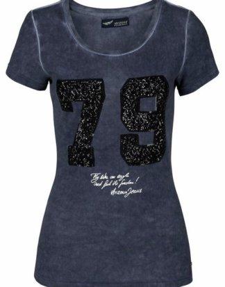 """Arizona T-Shirt """"vorn mit Pailletten"""" im Glamour-Sporty-Look"""