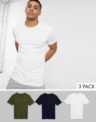 BOSS - Bodywear - 3er-Pack T-Shirts mit Logo in Bunt-Mehrfarbig