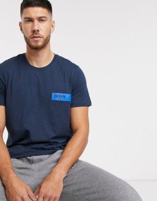 BOSS - Bodywear - Marineblaues T-Shirt mit Logo-Navy