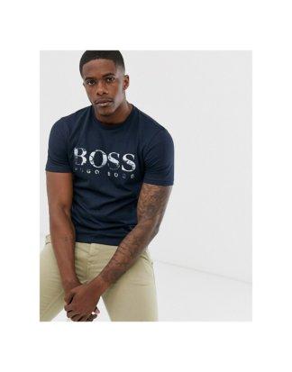 BOSS - Tauch 1 - T-Shirt in Marineblau mit Logo-Navy