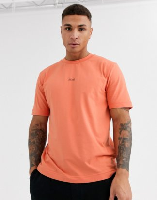 BOSS - Tchup - T-Shirt mit kontrastierendem Logo in Orange
