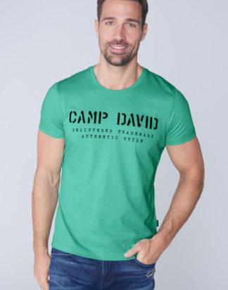 Basic T-Shirt mit Logo-Stickerei Farbe : azure , Größe: L
