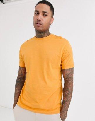 Bershka - Join Life - Locker geschnittenes T-Shirt in Senfgelb