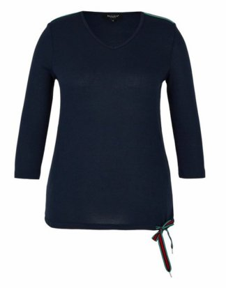 Bexleys woman 3/4-Arm-Shirt mit Galonstreifen