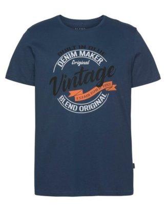 Blend T-Shirt mit Markenprint