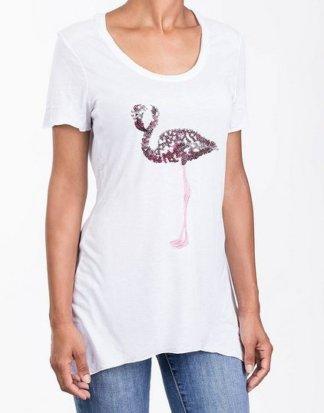 Blue Monkey T-Shirt mit modischer Frontapplikation