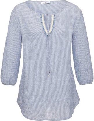 Blusen-Shirt 3/4-Arm Peter Hahn blau Größe: 36