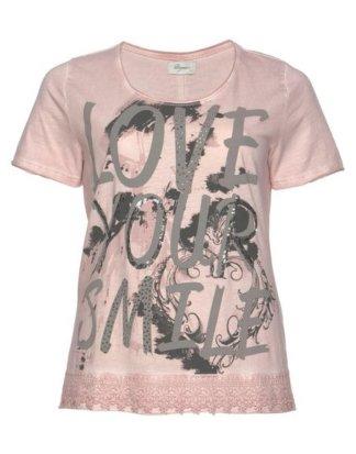 Boysen's Print-Shirt mit modischen Glitzersteinchen