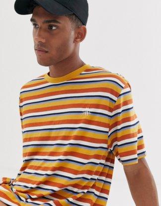 Brooklyn Supply Co - Legeres T-Shirt mit bunten Streifen-Mehrfarbig