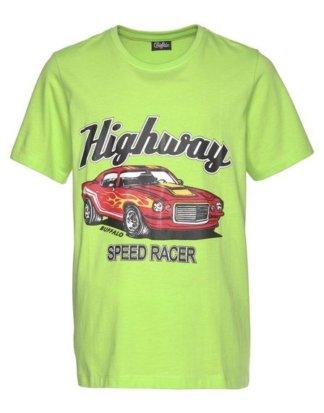 Buffalo T-Shirt mit farbigem Autodruck