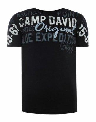 CAMP DAVID T-Shirt mit Applikationen