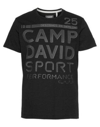 CAMP DAVID T-Shirt mit Markenprint