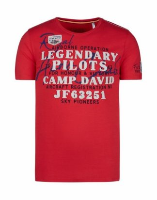 CAMP DAVID T-Shirt mit Necktape
