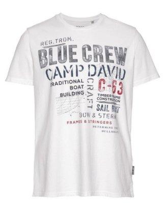 CAMP DAVID T-Shirt mit Prints und Stickereien