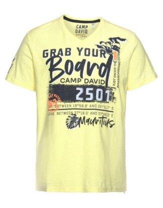 CAMP DAVID T-Shirt mit auffälligen Prints