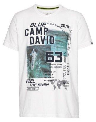 CAMP DAVID T-Shirt mit großem Frontdruck