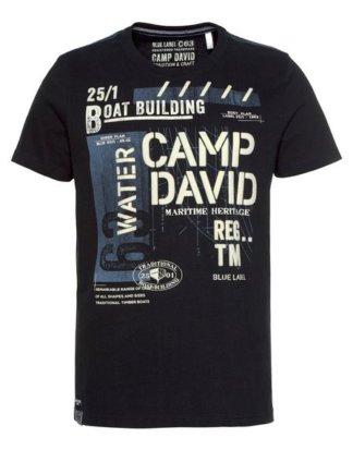 CAMP DAVID T-Shirt mit markantem Frontdruck