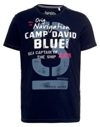CAMP DAVID T-Shirt mit modischem Frontprint