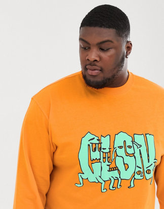 COLLUSION Plus - Bedrucktes T-Shirt-Orange