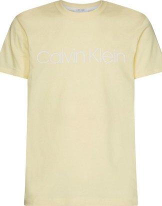 "Calvin Klein T-Shirt ""COTTON FRONT LOGO T-SHIRT"" mit hellem Markenprint"