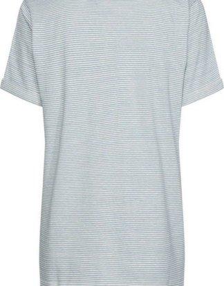"""Calvin Klein T-Shirt """"LINEN STRIPE CREW NECK TEE"""" mit schmalen Ringelstreifen allover & Calvin Klein Logo-Badge"""