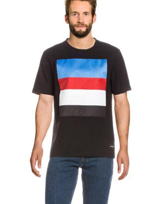 Calvin Klein T-Shirt, Rundhals, gerader Schnitt bunt