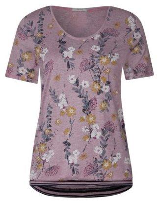 Cecil Print-Shirt mit Elastiksaum