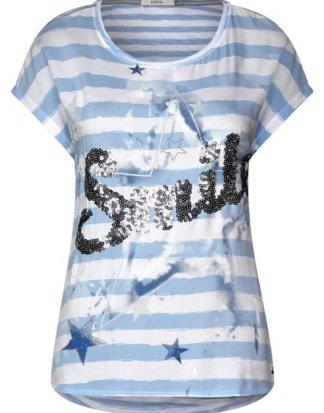 Cecil T-Shirt mit Print und Dekor