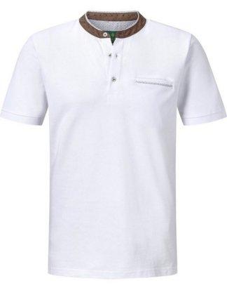 """Charles Colby T-Shirt """"DUKE QUENTIN"""" mit verziertem Kragen"""