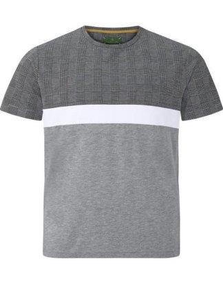 "Charles Colby T-Shirt ""EARL GORDON"" klassisches Glencheck-Muster"
