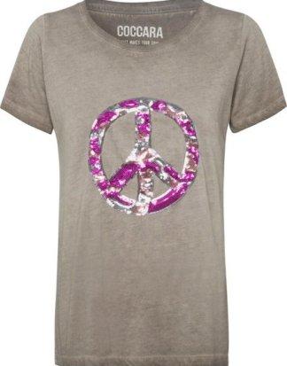 """Coccara T-Shirt """"IRENE"""" mit trendy Pailletten"""