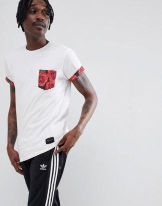 Criminal Damage - Vale - T-Shirt mit Tasche-Weiß