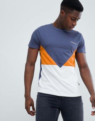 D-Struct - T-Shirt mit Netzeinsatz und Logo-Orange