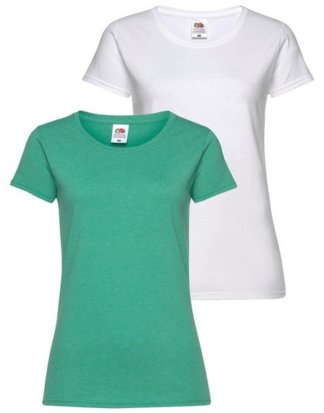 Fruit of the Loom T-Shirt (Packung, 2-tlg) aus melierter Ware
