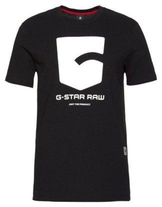 G-Star RAW Print-Shirt Logo und Schriftzug auf der Brust
