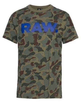 "G-Star RAW T-Shirt ""Graphic 52"" gebrochener Frontprint"