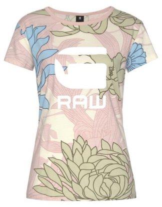 """G-Star RAW T-Shirt """"Lindelly r t wmn s/s"""" mit floralem Alloverdruck"""