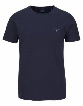 Gant T-Shirt kleine Kontrast-Logostickerei