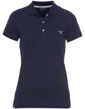 Gant T-Shirt mit Kontrast Logo-Stickerei auf der Brust