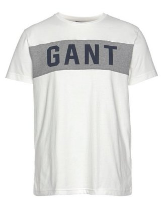 Gant T-Shirt mit breitem Kontrasteinsatz und GANT-Logo