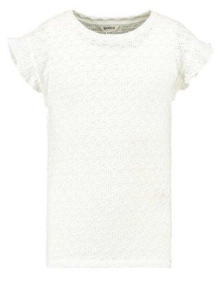 Garcia T-Shirt mit kurzen Rüschenärmeln