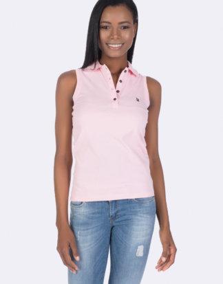 Giorgio DI Mare Polo-Shirt, ärmellos rosa